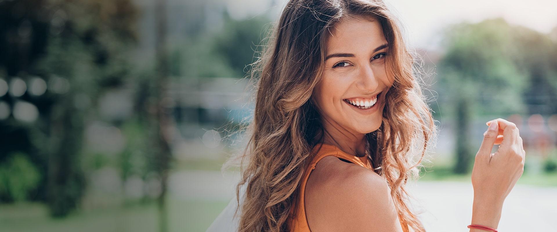 Foto de una chica sonriendo